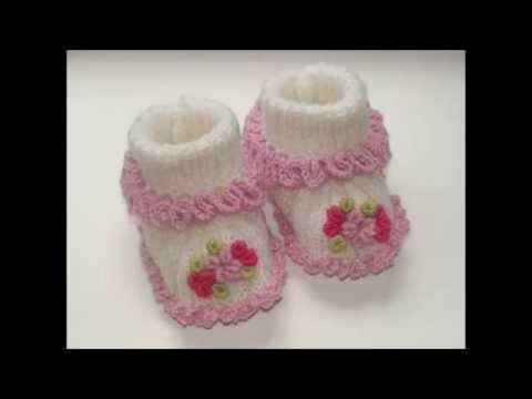 Zapatitos para bebe recién nacido en crochet - YouTube