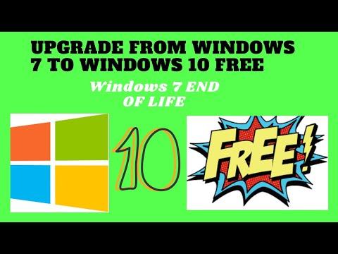 End Of Life Windows 7 Upgrade To WINDOWS 10 FREE!!!