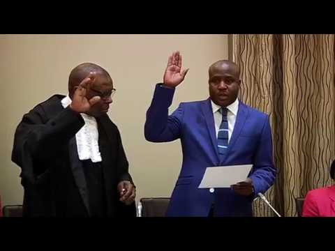 Swearing-in ceremony of Minister Bongani Thomas Bongo