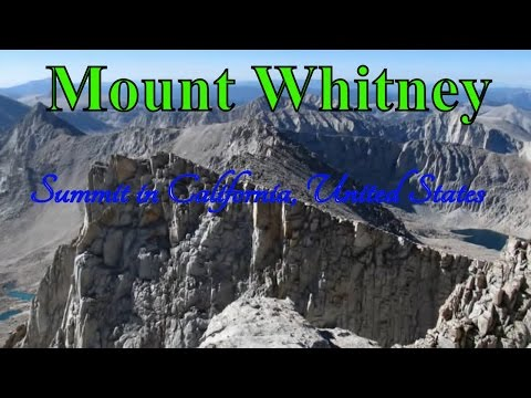 Visiting Mount Whitney, Summit in California, United States