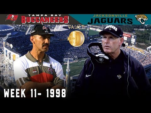 Tony Dungy Takes on Tom Coughlin (Buccaneers vs. Jaguars, Week 11 1998) | NFL Vault Highlights