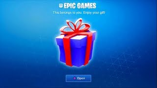 RECIEVING A FREE GIFT in Fortnite SEASON 5! (Fortnite Gifting Skins & Cosmetics)