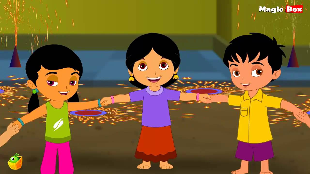 Deepavali | Telugu Nursery Rhymes | Animated Rhymes For Kids - YouTube for diwali animation for kids  186ref