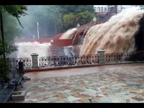 El huracan Bud causa desborde de represa en  Guanajuato e inundaciones en Muchos lugares de mexico.