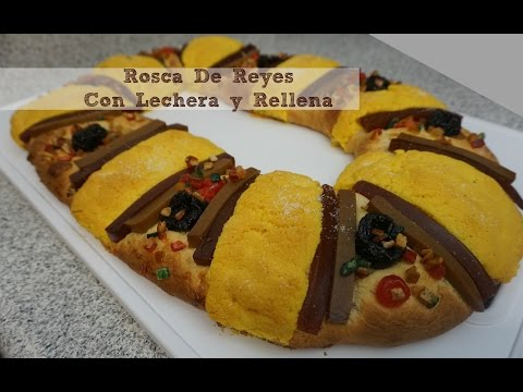 Rosca De Reyes,Con Lechera,Rellena y Facil!