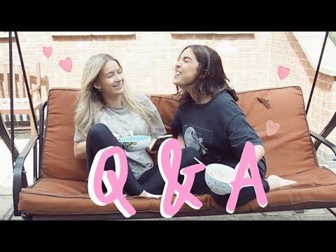 SNAPCHAT Q & A! | Sophia and Cinzia