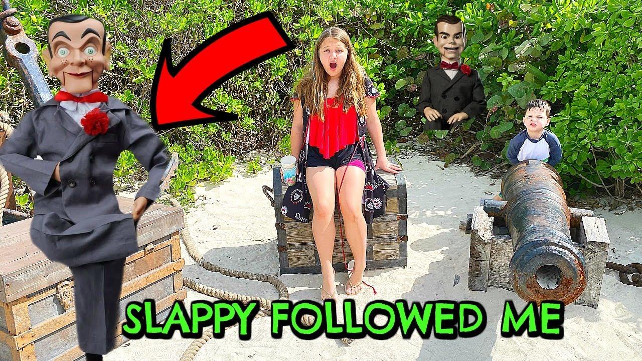 Download SLAPPY FOLLOWED US TO DISNEY ISLAND CASTAWAY CAY!!! Slappy Is Back! ESCAPE SLAPPY The Dummy!