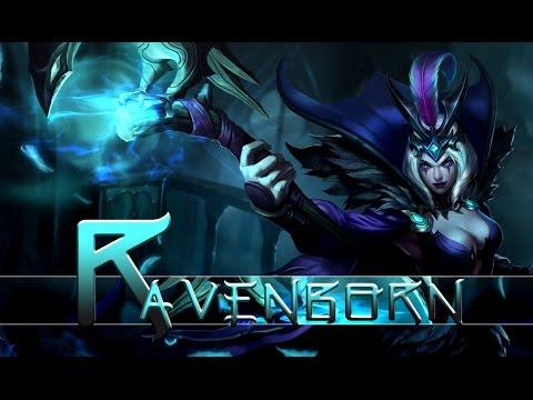 League of Legends: Ravenborn Leblanc (Skin Spotlight ...  League of Legen...
