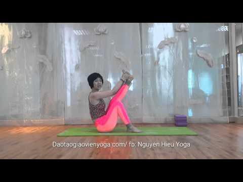 Tập yoga tại nhà |  Yoga kéo dài chân, Làm thon gọn mông, đùi | yoga cùng Nguyễn Hiếu