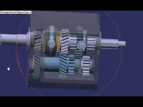 Catia V5 Gearbox Animation Youtube