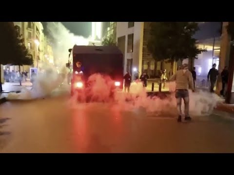 Clashes rock Beirut as tear gas fired at protesters in Lebanon