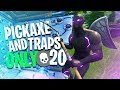 We *WON* with ONLY Pick Axes and Traps! - Fortnite Battle Royale