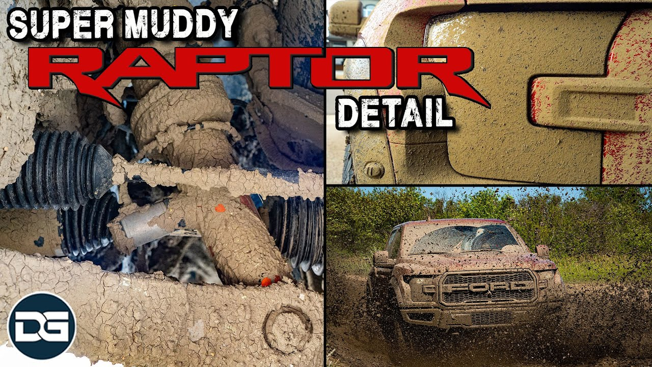 Cleaning My SUPER MUDDY Ford Raptor! | Full Exterior Detail of a Filthy Muddy Truck!