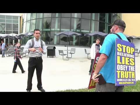 Florida International University Day #2 | Open Air Preaching | Kerrigan Skelly