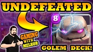clash royale undefeated golem deck 10 game win streak best golem deck spotlight arena 8 golem deck