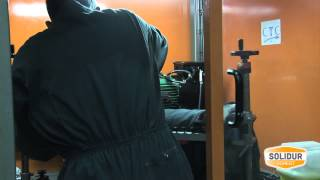 Pantalon SOLIDUR gris et orange Authentic