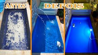 Passo a passo porcelanato liquido em piscina