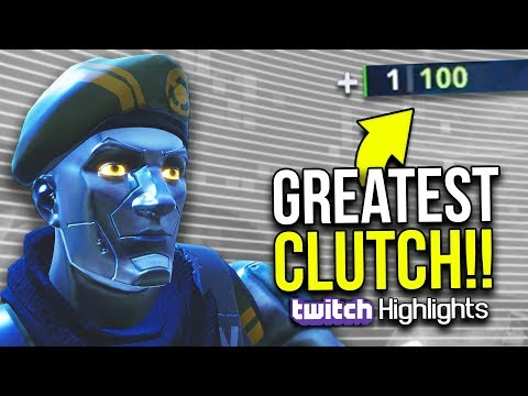 THE GREATEST CLUTCH IN FORTNITE: BATTLE ROYALE HISTORY!! | Twitch Highlights #2