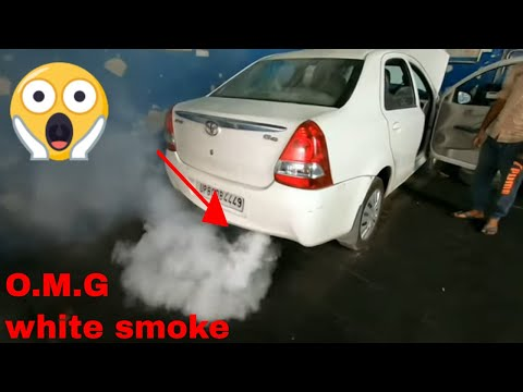 TOYOTA ETIOS WHITE SMOKE PROBLEM STARTING PROBLEM HIGH PRESSURE PUMP INJECTORS TURBOCHARGED CHECK