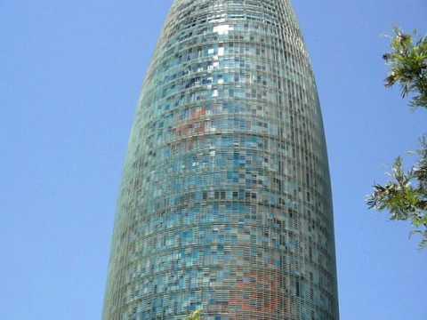 "Barcelona water company building ""Torre Agbar"" (HD)"
