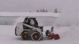 Big Pigg snow blower on Bobcat Skid steer