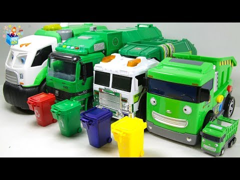 Learning Color Cars Lightning McQueen Nursery Rhyme cleaning garbage truck Play for kids car toys