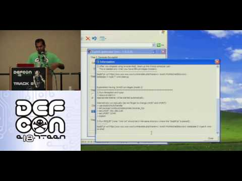 DEFCON 18: Hacking Oracle From Web Apps