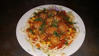 Мини фрикадельки в томатном соусе !!!
