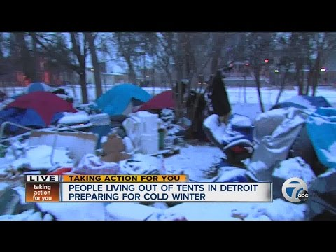 People living in tent city preparing for cold winter