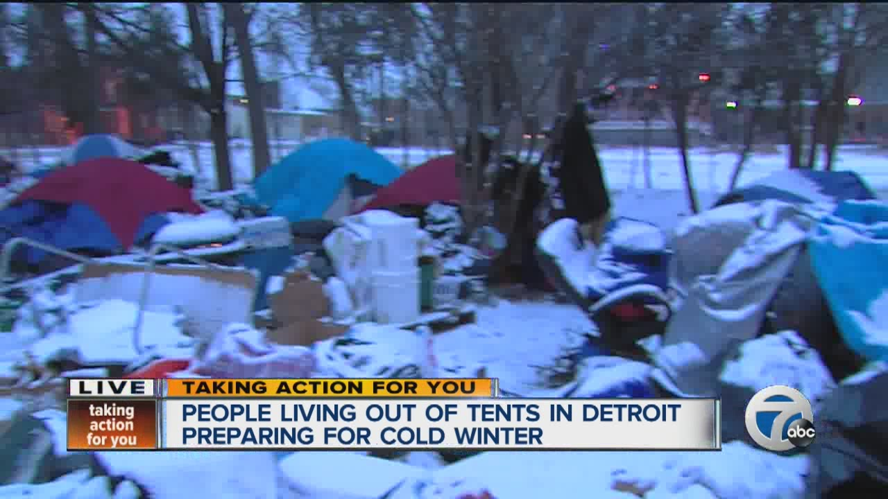 & People living in tent city preparing for cold winter - YouTube