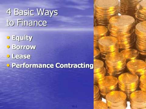 Financing for Engineers Webinar from the Association of Energy Engineers