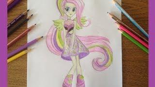 Рисую Флаттершай | Equestria Girls- Rainbow Rocks(Привет Это мое первое видео! Я рисую My Littel Pony Флаттершай Rainbow Rocks., 2014-06-23T14:56:34.000Z)