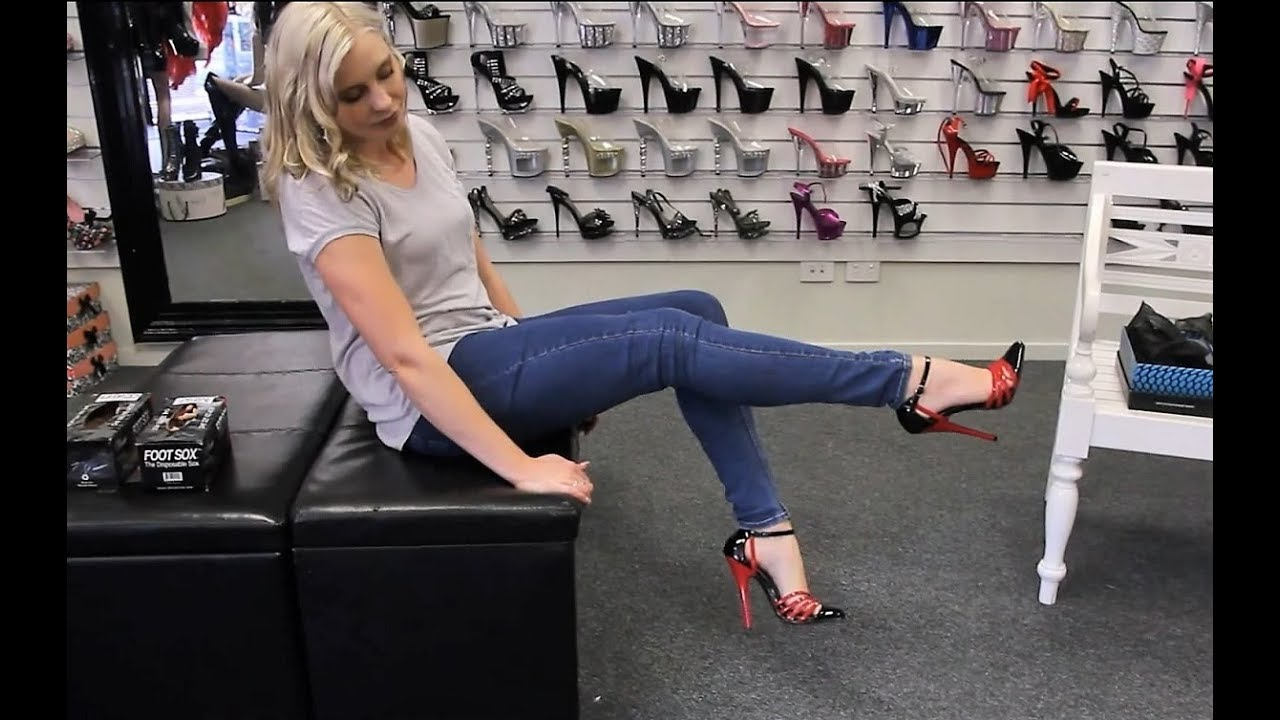 c1a5e55e1 Unboxing Try On Walking In Pleaser 6 Inch Single Sole High Heel Shoes