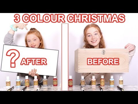 TWIN TELEPATHY 3 COLOR PAINT & MARKER *DIY Christmas Makeover Challenge | Sis Vs Sis Ruby and Raylee
