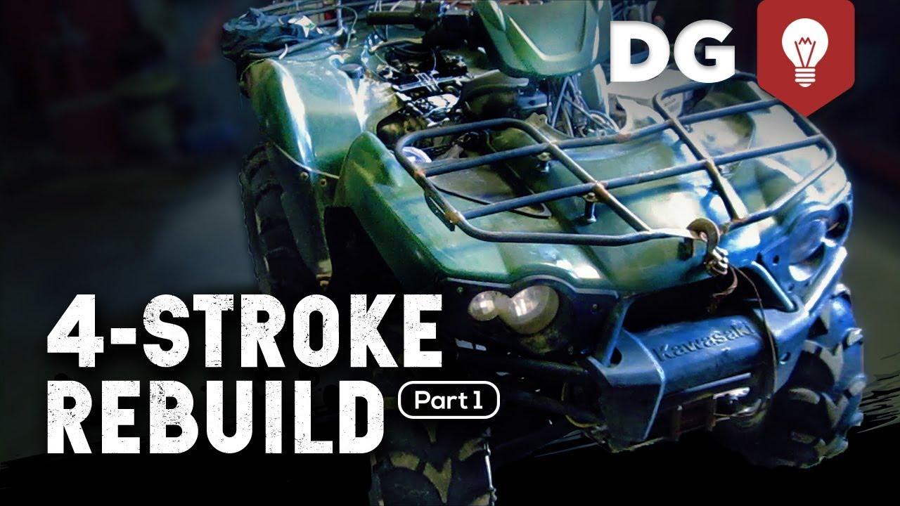 medium resolution of 4 stroke rebuild kawasaki brute force part 1