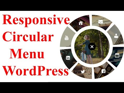 Responsive Circular Menu Plugin For WordPress | Bubble Menu  Awesome Custom Circle Menu