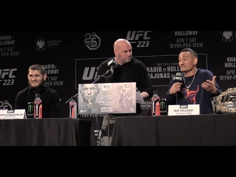Khabib Nurmagomedov Says Max Holloway Has Been Drinking Beer, Max Says He Is Ready  (UFC 223)