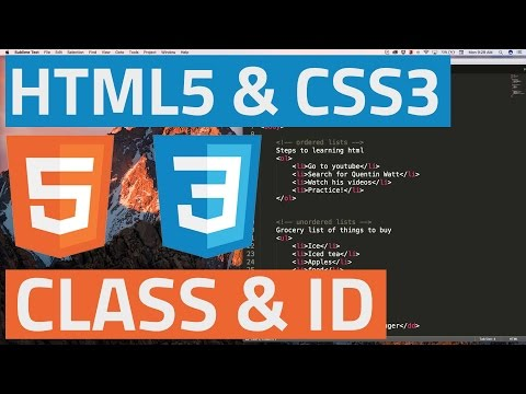 HTML5 And CSS3 Beginner Tutorial 20 - Classes And ID's