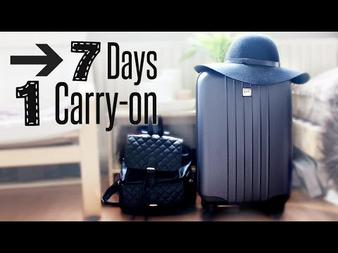 7 Days, 1 Carry-On | What's In My Suitcase