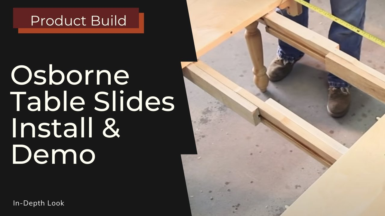 Nice Installing And Using Table Slides (Osborne Wood Products)   YouTube Part 31