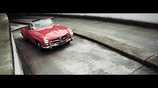 Mercedes-Benz SL190 on the road | Car video