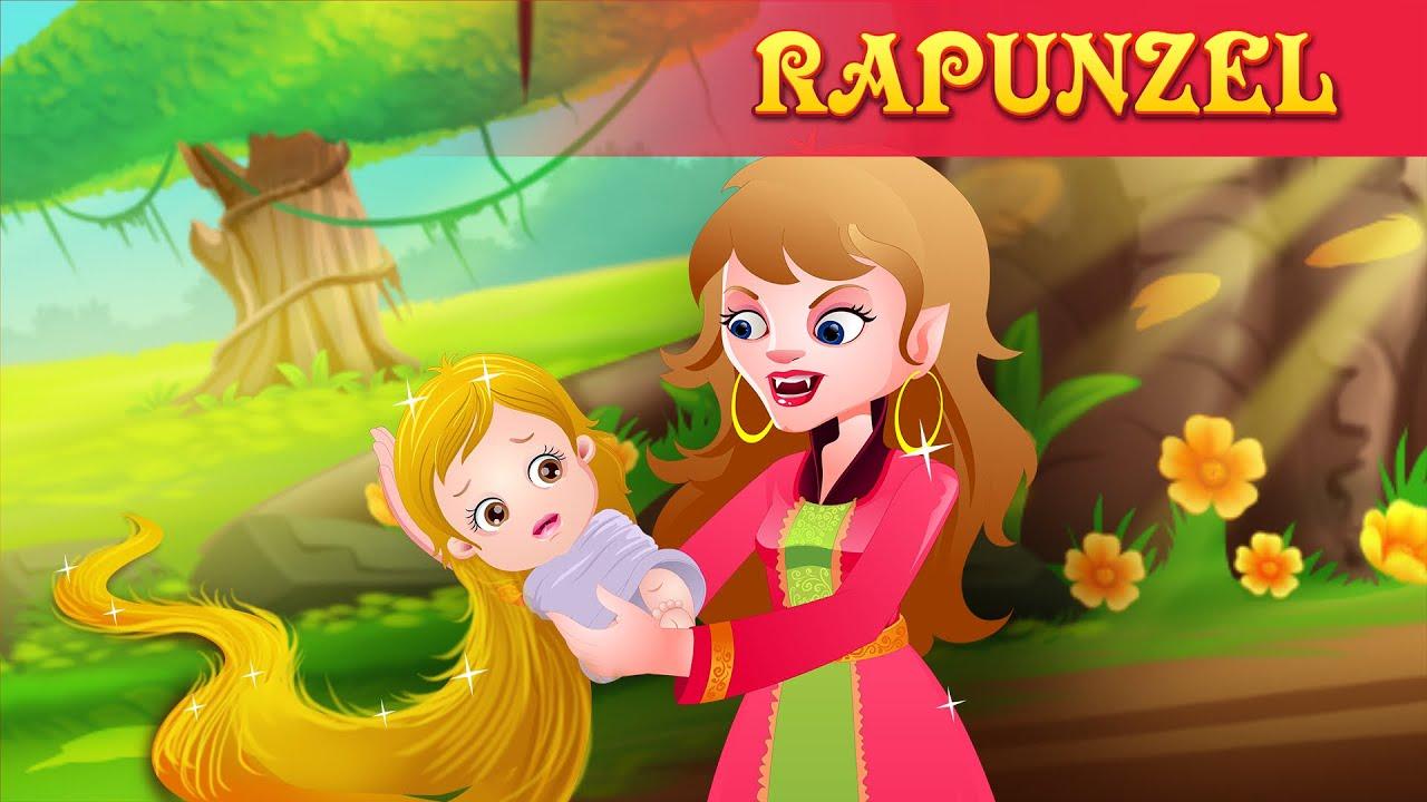 रॅपन्ज़ेल | हिंदी कहानी | Rapunzel & Little Mermaid Kids ...