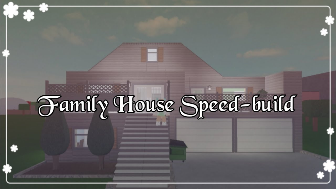 Bloxburg family house speed build youtube for Cheapest 2 story house to build
