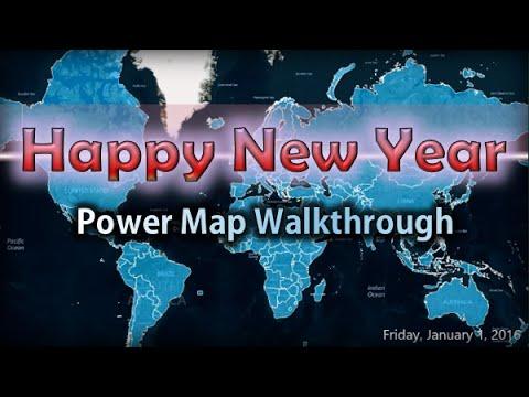 Power Bi Data Visualization Happy New Year Power Map Walkthrough Youtube