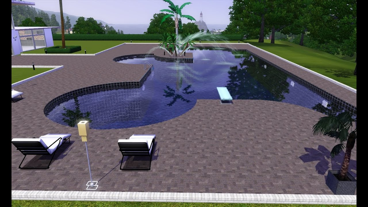 The sims 3 top 5 piscinas modernas hd youtube for Piscinas modernas