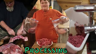 Processing Deer Meat (Cutting, Grinding)
