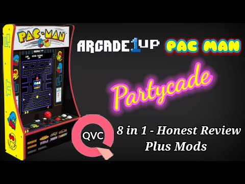 Arcade1up 8 in 1 Pac Man Partycade - QVC Exclusive Honest Review Plus Mods from Show-Me Retro