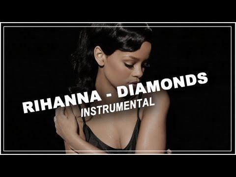 Rihanna - Diamonds - Piano acoustic instrumental / Karaoke / Lyrics