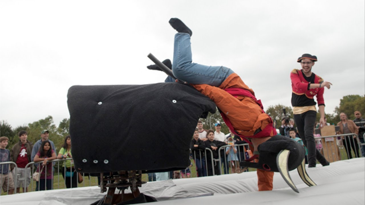 funny mechanical bull riding fails  u2013 fail compilation