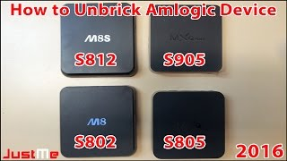 Unbrick Amlogic Devices mxq, m8 ,m8s ,m8s+ ,mqx pro
